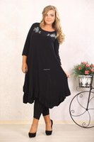 black max pipe - plus size xl xl women spring autumn summer max dress Loose Casual Print Three Quarter dress O Neck Mid Calf dresses