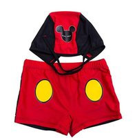Wholesale Summer high quality new cartoon animals children swimming trunks baby boxer trunks suits double elastic layer Spa Boxer boy swimwear