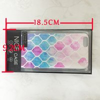 Wholesale Uv Coating Phone Cases - Universal Mobile Case Package PVC Plastic Retail Packaging Box with Inner Insert for iPhone Samsung Cell Phone Case Fit 4.7inch & 5.5inch