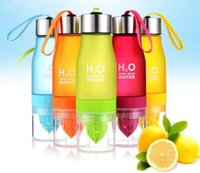 Wholesale Lemon Cup water bottle ml multi color H2O drink more water drinking bottle