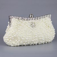 174262443794 pink pearl clutch Australia - Two Sided Beaded Luxury Beauty Pearl Womens  Evening Party Clutch Bag