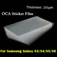 oca optischer klarer kleberkleber großhandel-OCA-Aufkleber-Film für Samsung-Galaxie S3 S4 S5 mini S6 iphone 5 optischer klarer anhaftender Kleber Mitsubishi-Doppelseitenaufkleber-Glasreparatur
