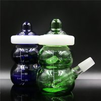 hookah portable sale 2018 - Practical Water Pipe Hookahs Portable Glass Bong Hookahs with Baby Bottles Joint Size 14mm 105MM Height Design Hot Sale Y0004