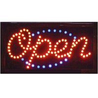Wholesale led open outdoor sign - 2016 direct selling led open neon sign 10X19 inch semi-outdoor flashing custom led open signs Wholesale