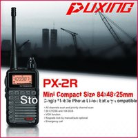 Wholesale Hotel Ham - Updated Version Puxing PX-2R UHF400-470MHz TX & RX, and VHF136-174MHz RX FM walkie talkie with Keypad LCD for security,hotel,ham