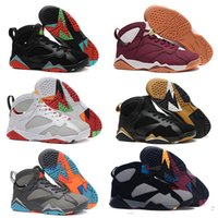 Wholesale Green Gg - 2018 Air retro 7 VII men basketball shoes raptor guyz Hares Olympic Bordeaux GG Cardinal Raptor French Blue white BRED gold sports Sneaker