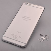 24K Platinum Gold Mirror 24ct Case Limited Edition pour iPhone 6s Luxury Back Cover New Replacement Part Glitter boîtier métallique arrière en aluminium