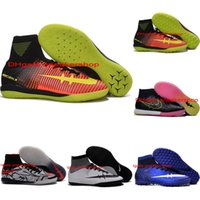 Wholesale Cheap Black Football Cleats - 2016 Cheap Original Soccer cleats MercurialX Proximo II TF IC Indoor CR7 Superflys football soccer shoes futsal Shoes hypervenom phantom