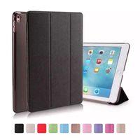 Wholesale Screen Protector Ipad Mini Back - Silk Skin Smart Cover for 9.7 inch iPad Pro Ultral Slim PU Leather Stand Fold Case iPad Mini 2 3 4 iPad Air 2 Protector Clear Back Covers