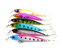 Wholesale Minnow Lure Bait 6g - New Arrival 30 pcs 6 colors 8CM 6G laser Minnow fishing lures hard bait plastic wobblers fishing tackle