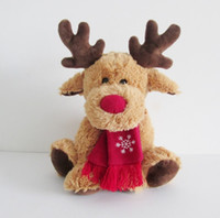 Wholesale Moose Toys - 11inch Brown Plush Moose Animal Dolls Toy Stuffed Elk Plush toys children Christmas gifts Party Home Xmas Decoration