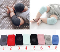 Wholesale kids elbow pads resale online - Baby Knee Pads Crawling Cartoon Safety Cotton Protector Kids Kneecaps Kneepad Baby Leg Warmers Crawling Elbow Cushion