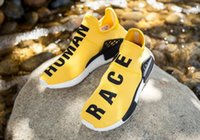 Wholesale Pictures Human Body - 2016 Real Pictures New Style NMD HUMAN RACE Sports Shoes Mesh Sneakers Pharrell Williams Pink Women Sports Shoes Free Shipping