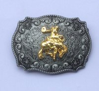 Wholesale Rodeo Cowboy - RODEO Western cowboy belt buckles Belt Buckle SW-BY208 suitable for 4cm wideth belt with continous stock free shipping