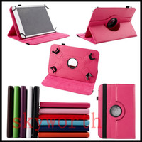 Wholesale hp leather case for sale - Universal rotating case for inch tablet MID Q88 A13 Galaxy tab T230 T530 ipad Stand