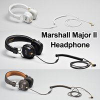 ingrosso cuffie auricolari dj-Marshall Major II Cuffie Bluetooth con microfono Deep Bass DJ Cuffie Hi-Fi Studio professionale Monitor Noise Cancelling Sport Earphone