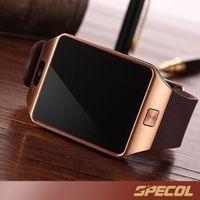 Wholesale Gift Kids Watch - 1PCS DZ09 Smart Watch GT08 U8 A1 Wrisbrand Android watchSmart SIM Intelligent mobile phone watch record the sleep state Q18 V8 Xmas Gift
