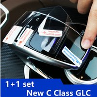 Wholesale color changing mouse - Interior Center Control Handwriting Mouse Protective Film For Mercedes Benz C class W205 GLC 2016 2017 Body Protection Stickers