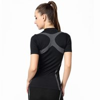 Wholesale Outdoor Yoga Clothing - Wholesale-2016 Summer Brand Women Compressed Yoga Sports Shirts Jogger Cycling Clothing Gym Fitness Outdoor Run Quick Dry T Shirt,UB142