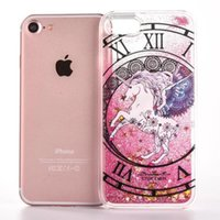 Magics Quicksand Dynamic Liquid Glitter Unicórnio Cavalo Hard Case Para Iphone 7 I7 6S 6 Plus SE 5 5S 5C Iphone7 Constellation Cell Phone Cover