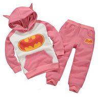 Wholesale New Boys Sets - batman set baby boys clothing set children hoodies pants thicken winter warm clothes boys girls sets 2016 autumn new arrival