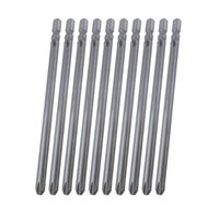 Wholesale Wholesale Screwdriver Bits - Shank 4mm Diameter Length 80mm S2 Material Silvery Gray Magnetic Phillips Screwdriver Bits PH00 PH0 PH1 PH2 (10pcs pack)