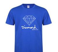 baumwoll-spandex-sport großhandel-Neue Sommer Baumwolle Herren T Shirts Mode Kurzhülse Gedruckt Diamant Versorgung Co Männlich Tops Tees Skate Marke Hip Hop Sport Kleidung