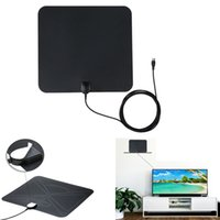 Wholesale Indoor Amplifier - TV Antenna, OUREIDA 50 Mile Digital HDTV Antenna Amplified Indoor HD Antenna with Detachable Amplifier and 13 FT Coaxial Cable - Black