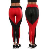"Wholesale Black Women Leggings Sex - Women Sport Sex Yoga Pants "" LOVE "" Print Capris Elastic Tight fitting Leggings Slim Fitness Pencil Fashion Trousers PWDK13 WR"