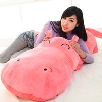 Wholesale Super Large Teddy Bear - toy backpack 1 piece small size 50 cm hippopotami doll sleeping pillow cute super large stuffed plush toy cloth doll baby child