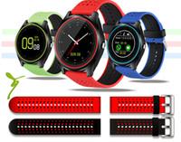 grabacion de reloj gratis al por mayor-Reloj inteligente V9 Android Relojes inteligentes Samsung Reloj inteligente SIM del teléfono móvil Puede grabar el reloj inteligente del estado de reposo con paquete DHL gratis