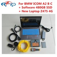 Wholesale Isis Bmw Scanner - icom a2 laptop for bmw icom a2+b+c diagnostic scanner with software V2017.03 ssd super speed + New laptop Z475 for bmw isis ista
