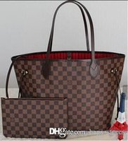 Wholesale ladies leather beach bag - Fashion Women Bag Shoulder Bags Brand L Designer Never Full Lous V Speedy Mono Alma Leather Handbags gram Vutton Ladies Tote Zipper Bags