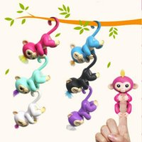 Wholesale Finger Function - Orginal Design All 6 Functions Finger Monkey Baby Monkey Lings Retail Packaging Interactive Toy In Stock Christmas Gift DHL Toy99