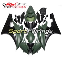 Wholesale Motorcycle Fairing Covers - Injection Fairings Fit Yamaha YZF600 YZF R6 06 07 YZF-R6 2006 2007 ABS Motorcycle Fairing Kit Bodywork Cowlings Matte Army Green Black Cover