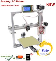 Wholesale 3d Max Metal - New Upgrade desktop 3D Printer Prusa i5 Max print size 220*270*220 mm Aluminum Frame Big LCD 16G TF Card for gift Optional Filament