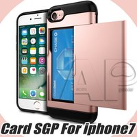 Wholesale Slide Back Case - Wallet Cases For Iphone 8 7 Samsung S8 Note 8 Plus Cases Thin Card Slot Protective Slide Case Hybrid Back Cover Phone Case