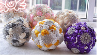 Wholesale Western Wedding Bouquets - New Western Fashion Crystal Beaded Bridal Bouquets Colorful Wedding Suppliers Bridesmaid Holding Flowers Handmade Custom Manual Bouquet