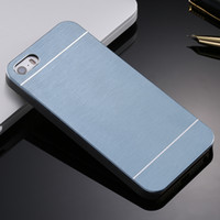 Wholesale Iphone 4s Aluminum Cases - 4s Aluminum Metal Brush Case for iphone 4 4S Phone Accessories Hard Back Cover for iphone4 High Quality Hot Luxury