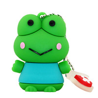 Presentes para miúdos Ruki Animal Pen Drive 100% Capacidade real 4GB 2GB 1GB 8GB 16GB Frog Pendrive USB Flash Drive Memory Stick