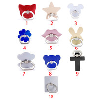 Wholesale Used Cars Blue - Fashion Universal Mobile Phone Ring Stent Cell Phone Ring Holder Finger Grip with Free Hook for Car Using Phone Stand 100pc CPR001