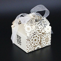 Wholesale party favors european hollow Chinese double happiness Casamento candy boxes wedding gift box