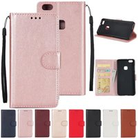Wholesale Framed Wallets - Wallet PU Leather with Card Slot Photo Frame Wallet Back Cover Pouch For Huawei P9 P10 Plus Lite P8 Lite 2017 Honor 6C 6X