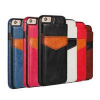 Wholesale phone i6 online – custom i6 Plus Back Cover Card Slot Shock Proof Leather Case For iPhone S For iPhone Plus S Plus Phone Case