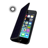 Wholesale Solar Phone Cases - 2800mAh Rechargeable Power Battery Solar Powered Backup Battery Case for iPhone 6 6S 4.7inch Cell Phone Power Case