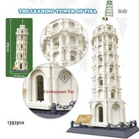 Wholesale large toy bricks - 8012 Leaning Tower of Pisa Mould toy World Great Architecture Large Wange Building Blocks Toy Bricks Compatible lepin
