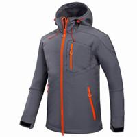 Wholesale Mens Ski Jacket Waterproof - Waterproof Jacket 2017 Windstopper Soft Outdoor Softshell Mens Hiking Climbing Mountain Ski Thermal Fleece Sport Jackets