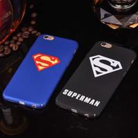 Wholesale Superman Logo Iphone Case - Fashion sports brand logo superman phone case for iphone6 6s 6plus 6splus pretty cool plastic hard back cover