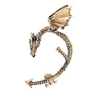 Wholesale Game Thrones Ear Cuff - Punk Dragon Shaped Earrings Clip Alloy Dragon Ear Cuff Clip On Earrings Game Of Thrones Jewelry