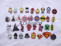 Wholesale Avengers Jewelry - New Superhero Avengers Charm pendants Jewelry Making Party Gifts LM18